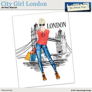 Art Print City Girl London