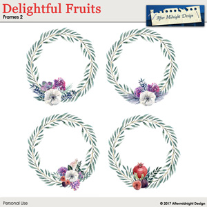 Delightful Fruits Frames 2