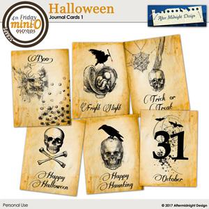 Halloween Journal Cards 1