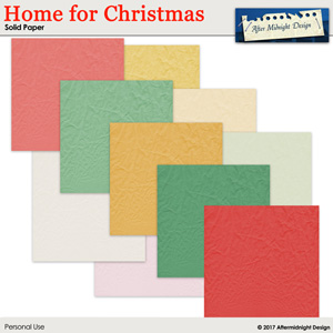 Home for Christmas Paper Solid