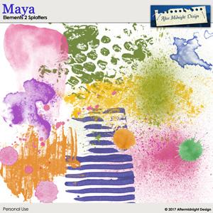 Maya Splatters