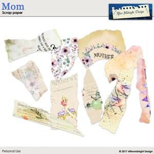 Mom Scrap Paper