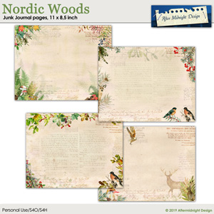 Nordic Woods Junk Journal Pages