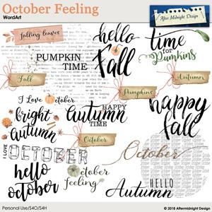 October Feeling WordArt