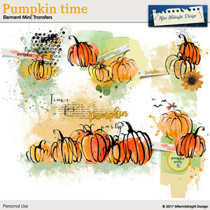 Pumpkin time Elements Mini Transfers