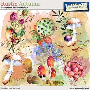 Rustic Autumn Transparencies, Decorations