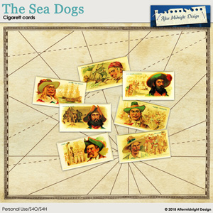 The Sea Dogs Cigarett Cards