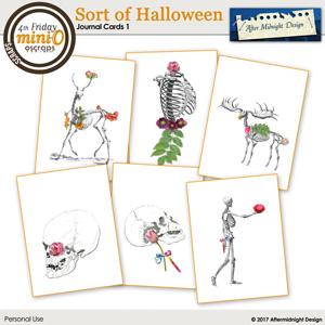 Sort of Halloween Journal Cards 1