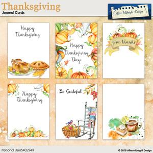 Thanksgiving Journal Cards