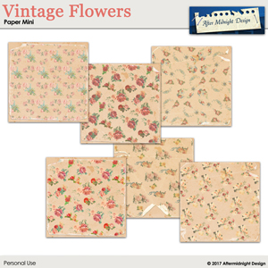 Vintage Flower PaperMini