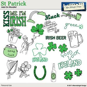 St Patrick Add-On Word Art