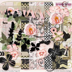 A Woman's Paradise Page Kit