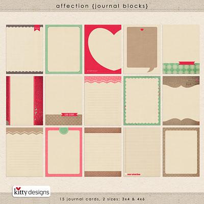 Affection {Journal Blocks}