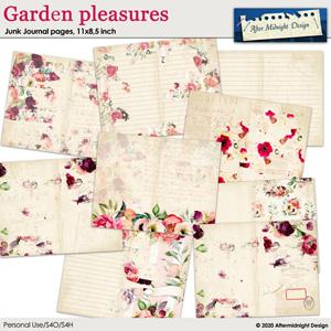 Garden pleasures Junk Journal pages