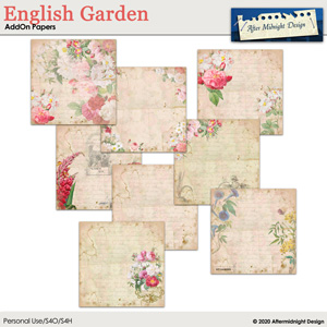English Garden AddOn Papers