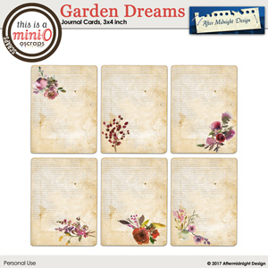 Garden Dreams Journal Cards