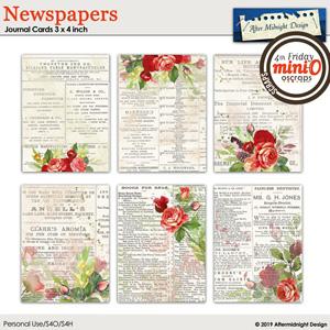 Newspaper Journal Cards