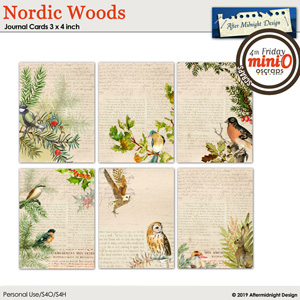 Nordic Woods Journal Cards