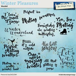 Winter Pleasures WordArt