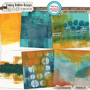 Amber and Indigo Hand Painted Backgrounds Vol2