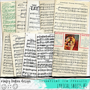 Lyrical Sheets No1 for Commercial Use