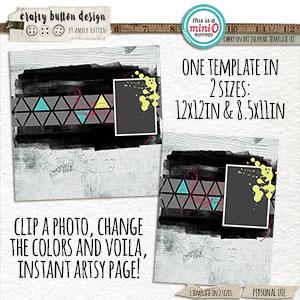 Carry On Art Journal Template Set
