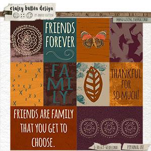 Friendsgiving Journal Cards