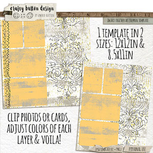 In This Together Art Journal Template Set