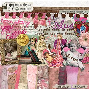 Love Story Art Journaling Kit