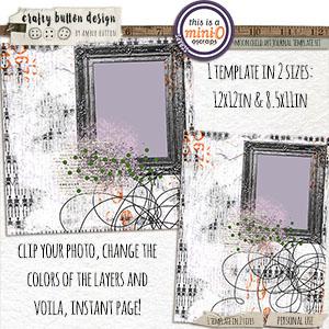 Moon Child Art Journal Template Set