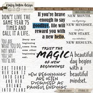 New Beginnings Words