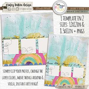 Rainbow Art Journal Template Set