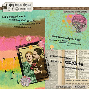Somewhere Only We Know Art Journal Page Kit