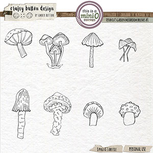 Titania's Garden Mushroom Brushes Vol1