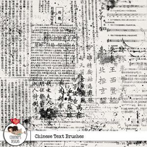 Chinese Text Brushes - CU/PU