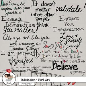 Validation - Word Art