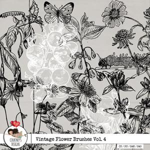 Vintage Flower Brushes Vol. 4 - CU/PU