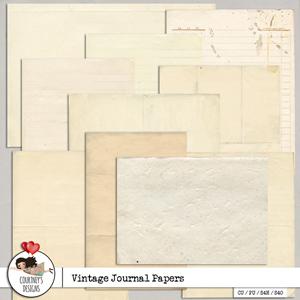 Vintage Journal Papers - CU/PU