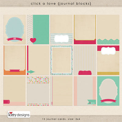 Click A Love {Journal Blocks}
