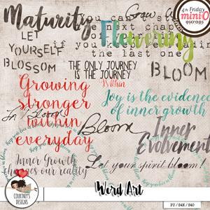 In Bloom - Word Art