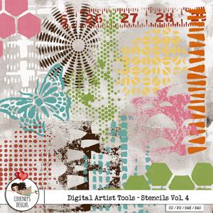 Digital Artist Tools - Stencil Brushes Vol. 4