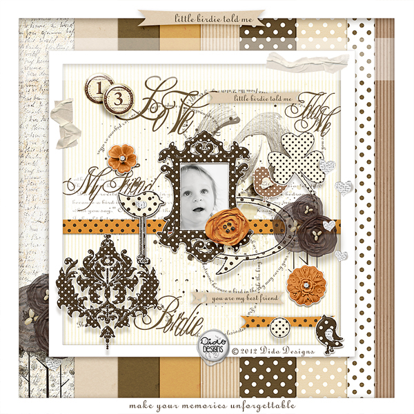 Little Birdie Told Me digital kit by Dido Designs