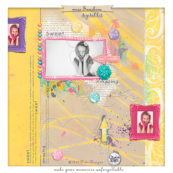 Miss Sunshine digital kit by Dido Designs.