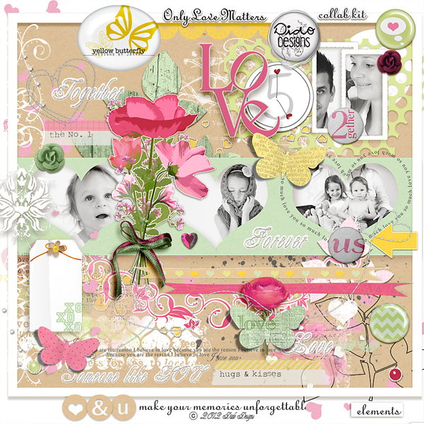 Only Love Matters collab kit with Yellow Butterfly Designs