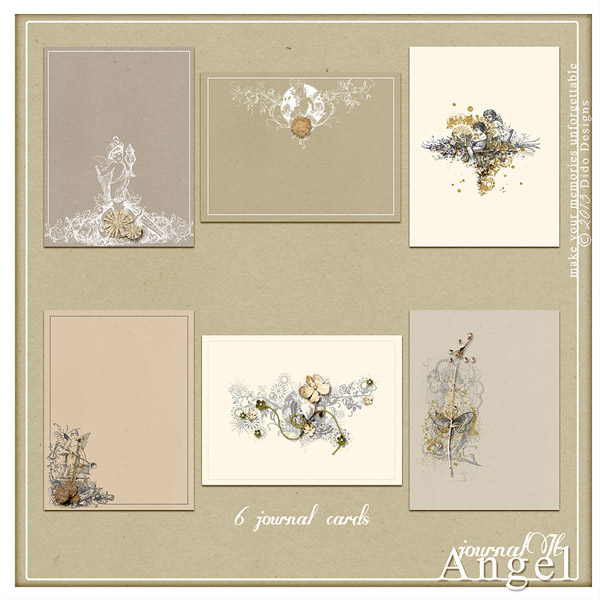 {angel} jornalIt journal cards by Dido Designs.