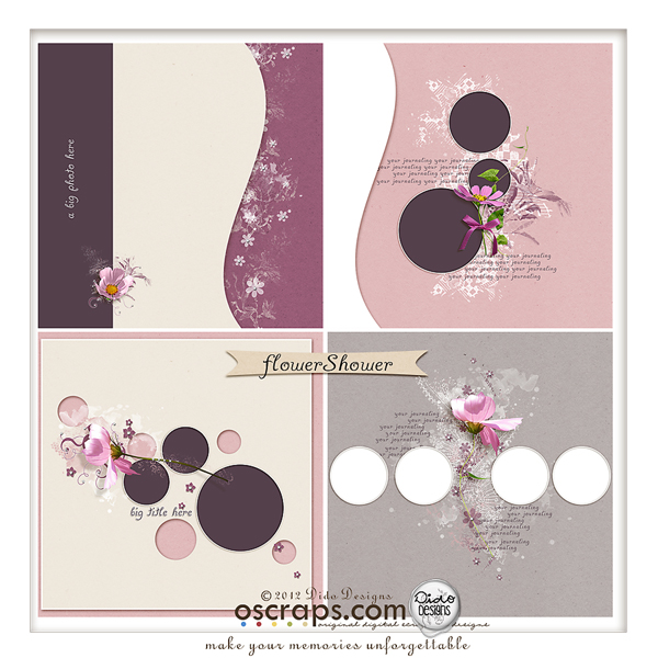 {flowerShower} tempate pack