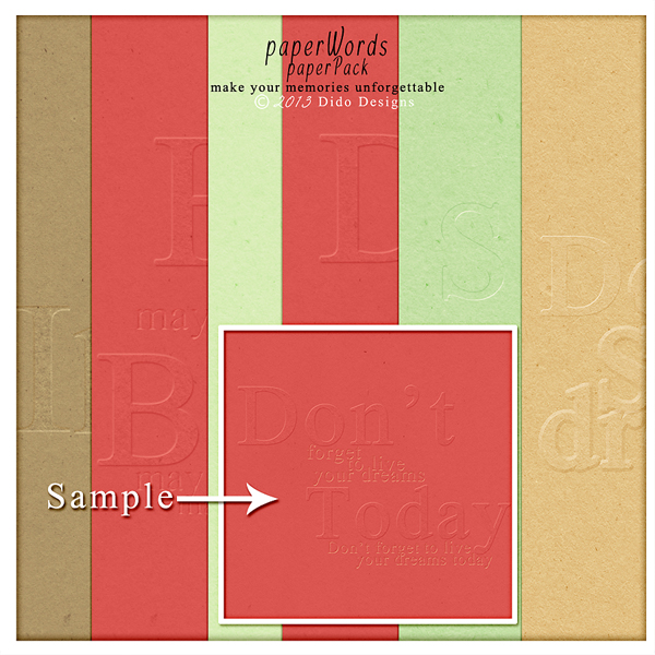 {paperWords} paperPack by Dido Designs.