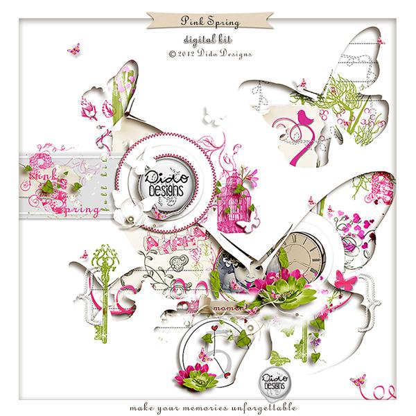 Pink Spring digital kit by Dido Designs.