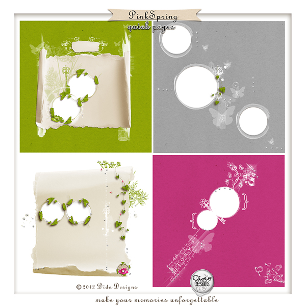 Pink Spring quick pages by Dido Designs.