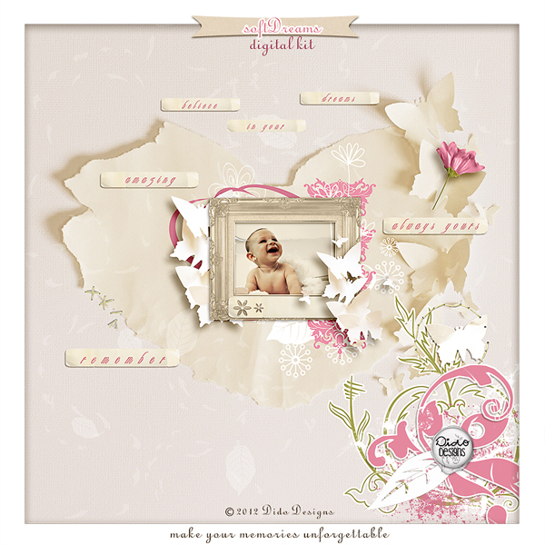 Soft Dreams digital kit by Dido Designs.